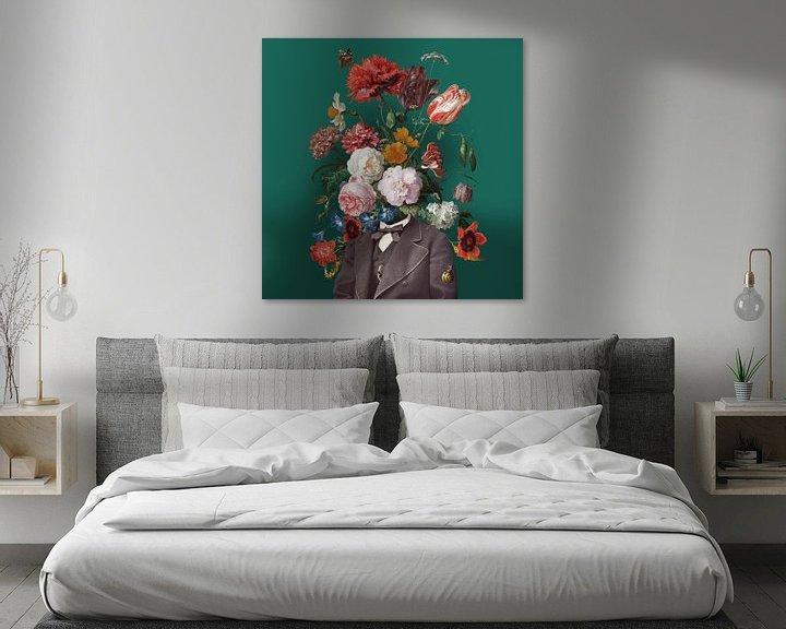 Sfeerimpressie: Zelfportret met bloemen 3 van toon joosen