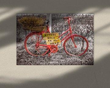Rode oude fiets