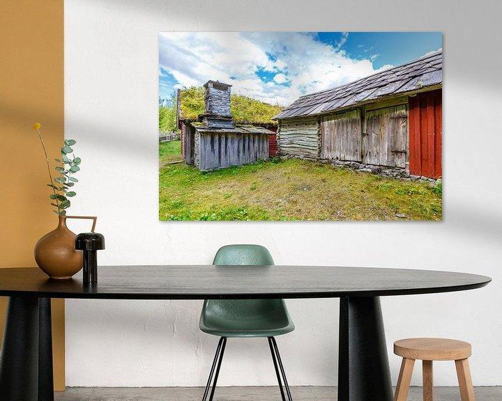 Sfeerimpressie: Oude schuur in Noorwegen van Pim Leijen