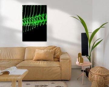 Abstrakte Kunst--Licht Tanz-01-GRÜN von Katja Goede