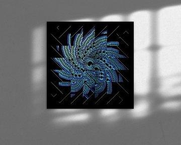 Blue fractal van Leopold Brix