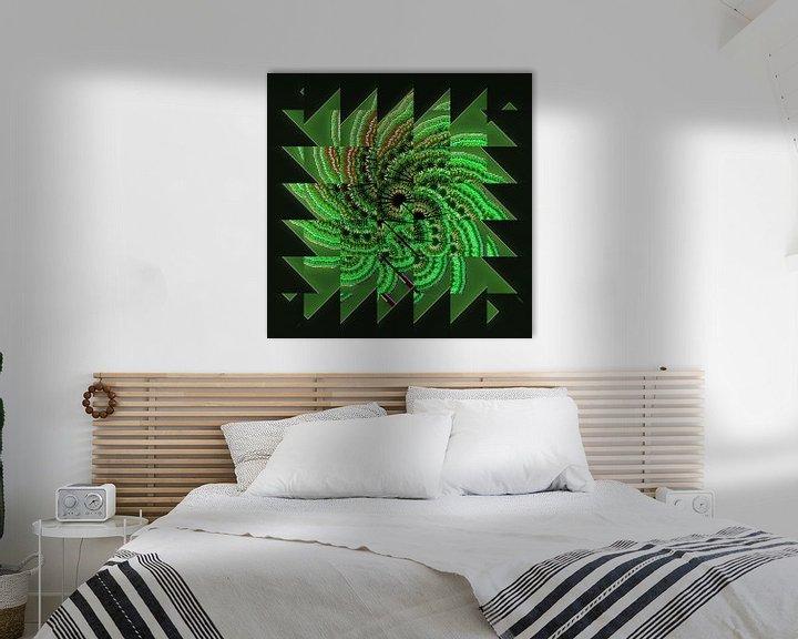 Sfeerimpressie: Green fractal van Leopold Brix