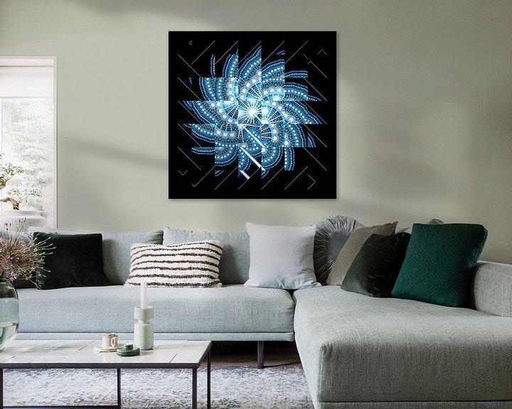 Sfeerimpressie: Blue fractal #2 van Leopold Brix