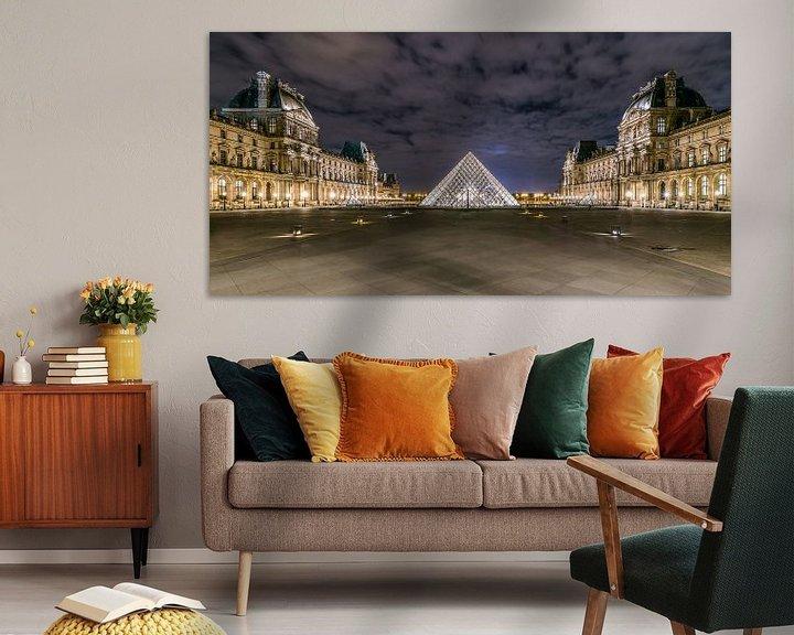 Beispiel: Louvre in der Nacht von Henk Verheyen