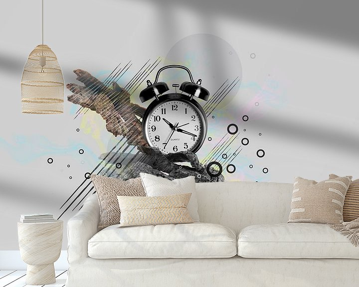 Sfeerimpressie behang: Morning alarm clock van Ursula Di Chito