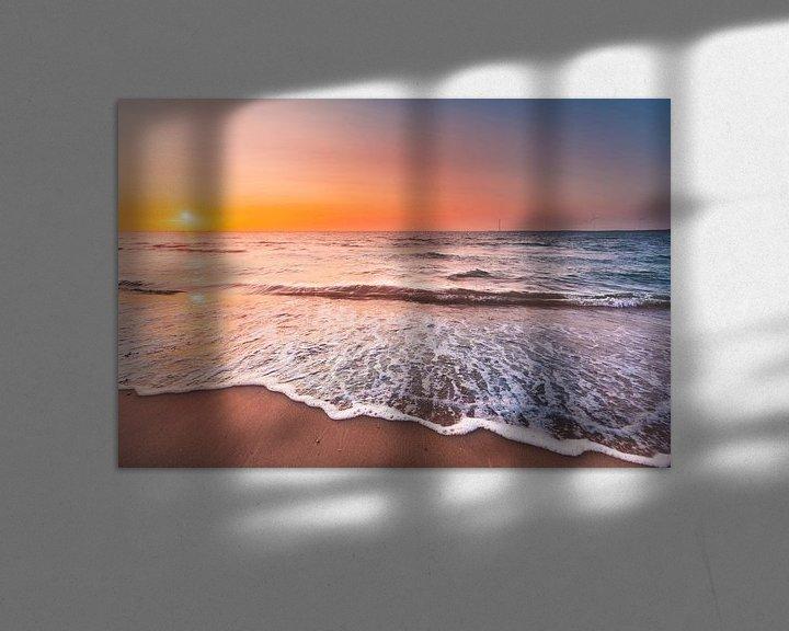 Impression: Sonnenuntergang Veersedam - Zeeland Strand sur Andy Troy