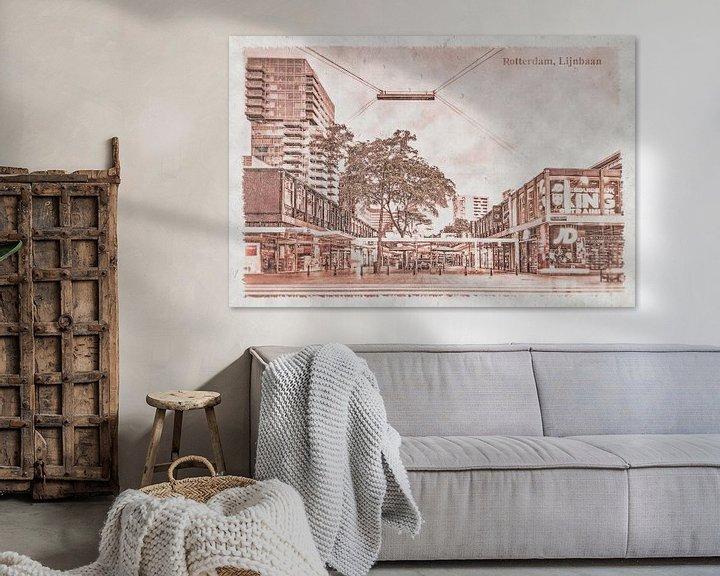 Sfeerimpressie: Oude ansichten: Rotterdam Lijnbaan van Frans Blok
