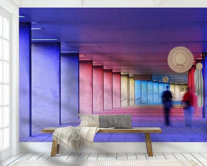 Sfeerimpressie behang: walking the arcade van Leuntje 's shop
