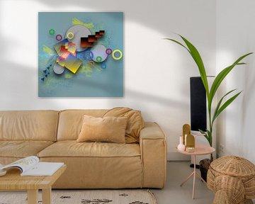 Variety of shapes - strong colors van Ursula Di Chito