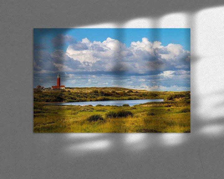 Sfeerimpressie: Vuurtoren Eielerland vanaf De Noordkaap - Texel van Texel360Fotografie Richard Heerschap