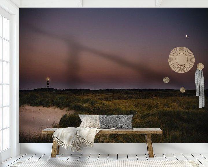 Impression: Vuurtoren en de Maan sur Nico van der Vorm