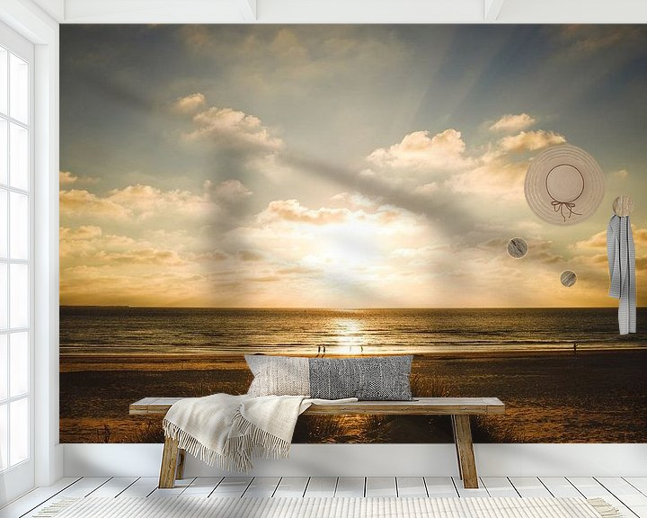 Beispiel fototapete: Zonsondergang Ameland von Nico van der Vorm