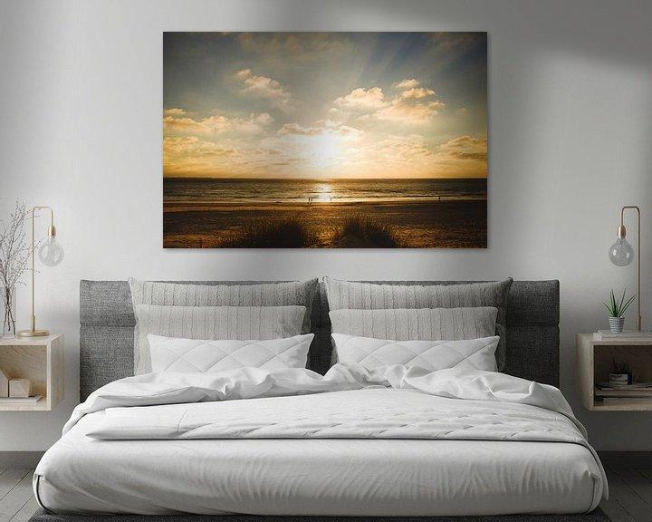 Sfeerimpressie: Zonsondergang Ameland van Nico van der Vorm