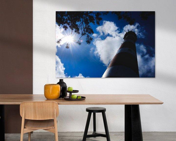 Impression: Silhouet Vuurtoren Ameland sur Nico van der Vorm