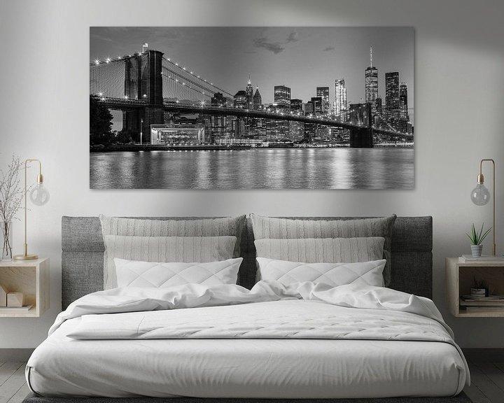 Beispiel: Skyline New York schwarz und weiß von Bart van Dinten