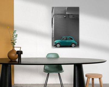 Groene Fiat 500 van arjan doornbos