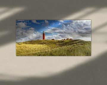 Panorama Vuurtoren van Texel / Panoramic Texel Lighthouse von Justin Sinner Pictures ( Fotograaf op Texel)