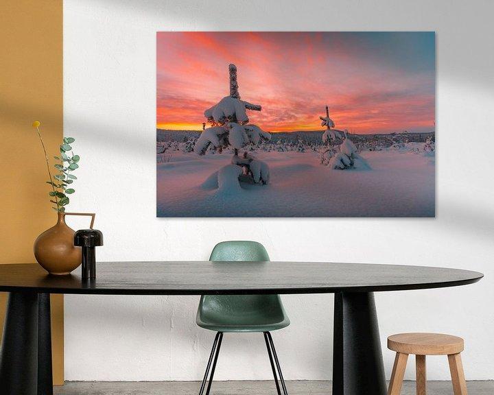 Sfeerimpressie: Zweden zonsondergang in winter 3 van Andy Troy