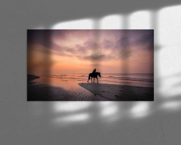 Sfeerimpressie: paardrijden op het strand van eric van der eijk