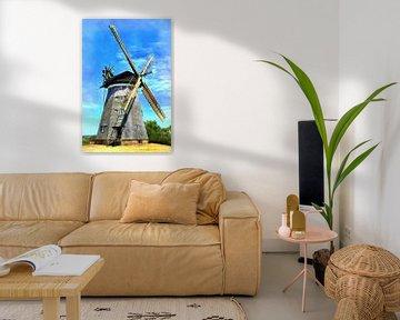 Dutch mill in Benz on the island of Usedom van PhotoArt Thomas Klee