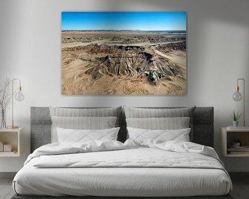 Painted Desert, Tloi Eechii cliffs bij Ward Terrace, Arizona, USA van Marco van Middelkoop