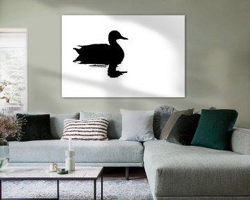 Silhouette einer Ente (rechteckig) von Fotografie Jeronimo