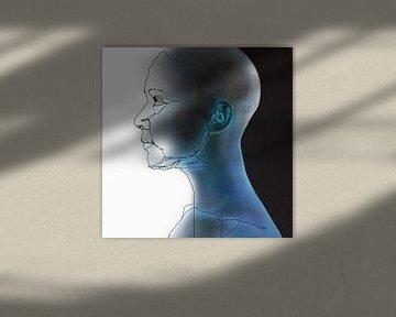 16. silhouet, portret, gezicht, kaal.  Kjeld. von Alies werk