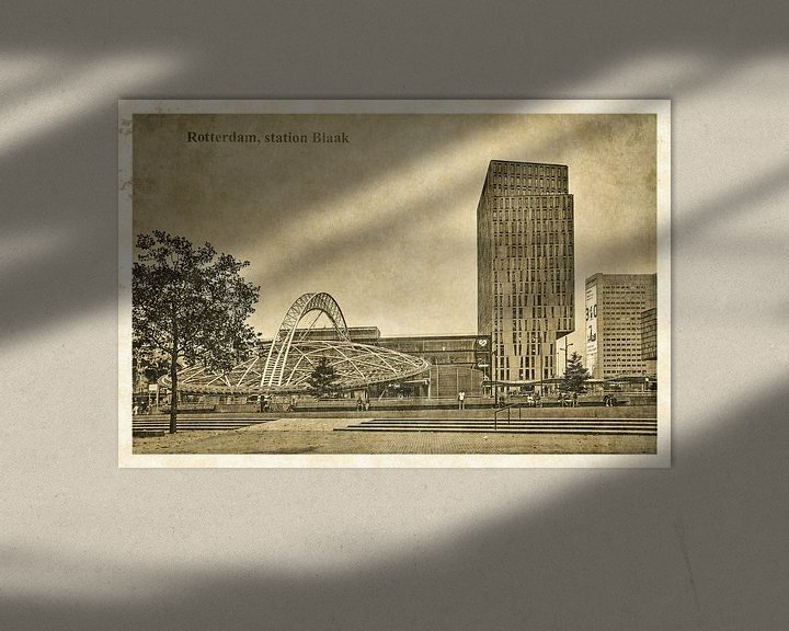 Sfeerimpressie: Oude ansichten: Rotterdam Blaak van Frans Blok