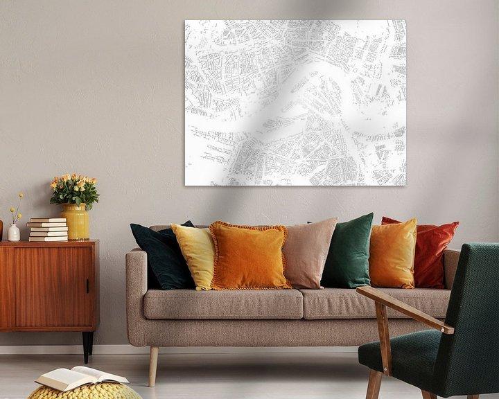 Sfeerimpressie: Schaduwkaart Rotterdam van Frans Blok
