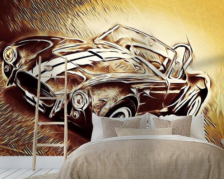 Sfeerimpressie behang: Shelby Cobra - Hell On Wheels (Vintage) van Jean-Louis Glineur alias DeVerviers