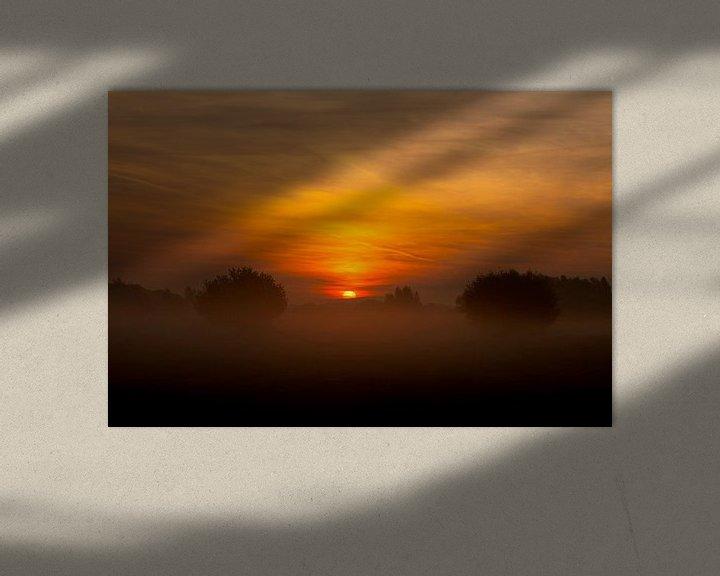Beispiel: Sonnenaufgang auf der IJssel von Maarten Krabbendam