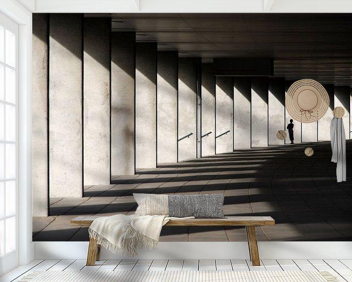 Sfeerimpressie behang: light&shadow van Leuntje 's shop