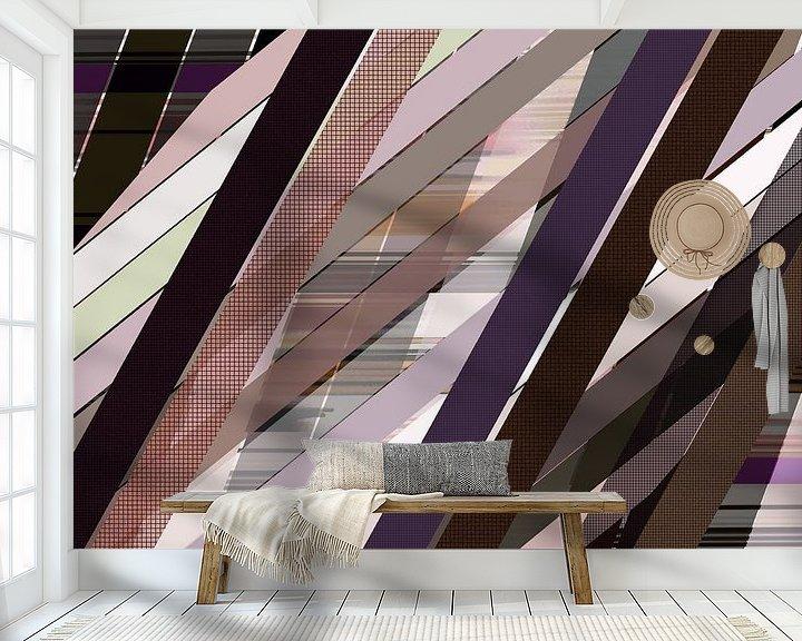 Sfeerimpressie behang: Lijnen 5. van True Color Stories