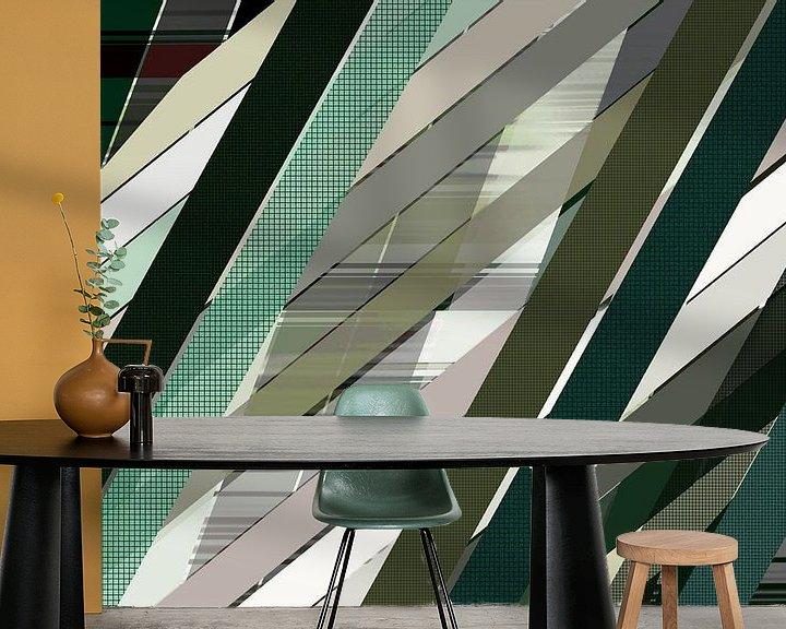 Sfeerimpressie behang: Lijnen 11 van True Color Stories