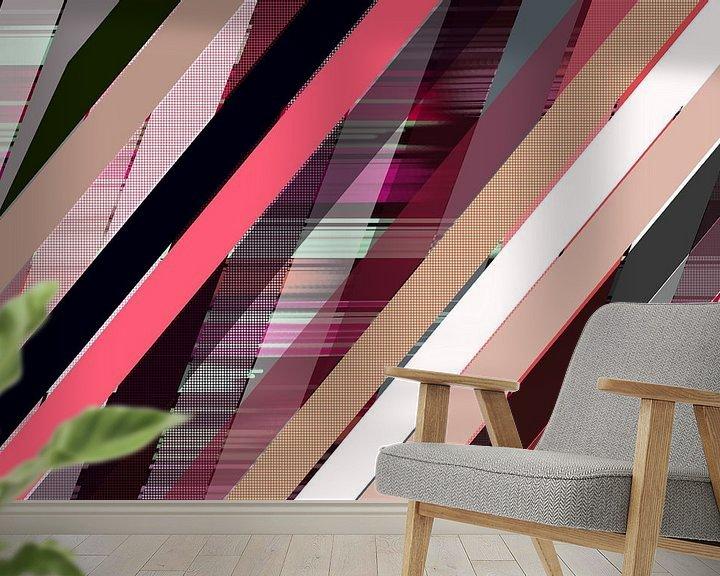 Sfeerimpressie behang: Lijnen 9 van True Color Stories