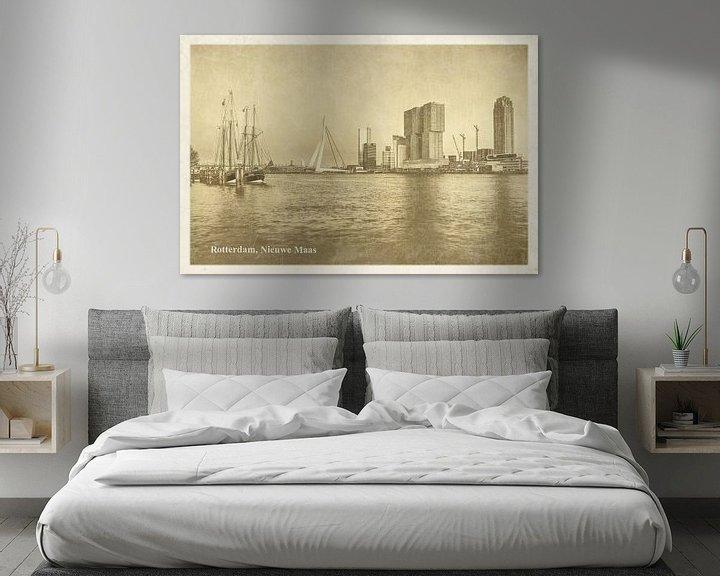 Sfeerimpressie: Oude ansichten: Rotterdam Nieuwe Maas van Frans Blok