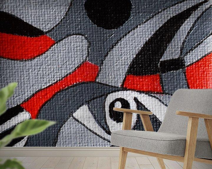 Sfeerimpressie behang: Vogelbekdier met beetje fantasie van Angelique van 't Riet