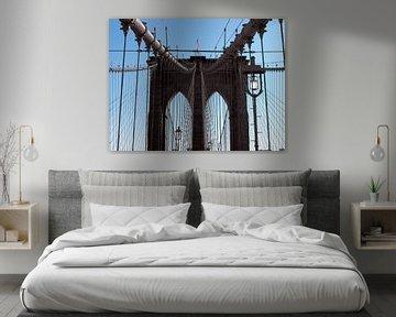 'Brooklyn Bridge - samengehouden door staal' van Jutta Klassen