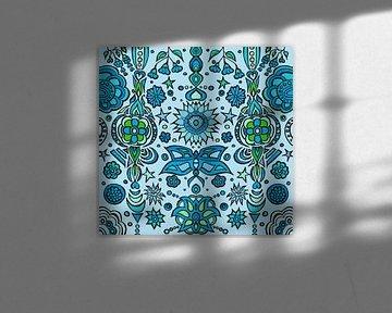 Blue Pattern XXL von Esther  van den Dool