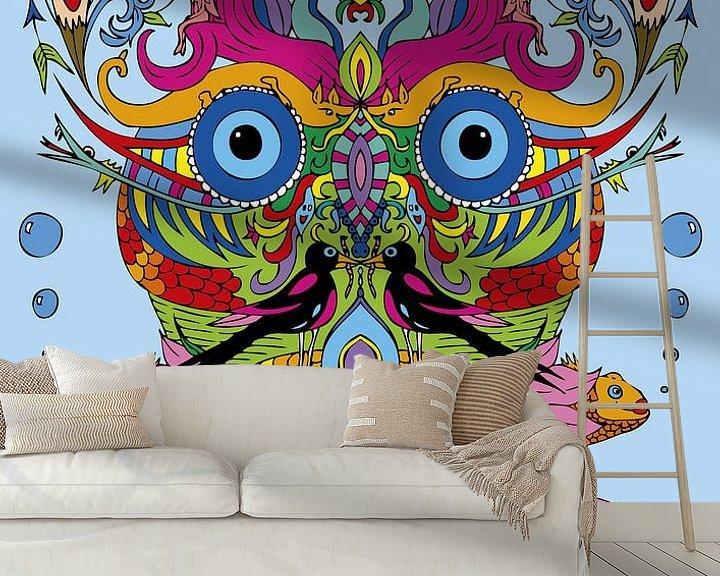 Sfeerimpressie behang: Fantasie gezicht van Esther  van den Dool
