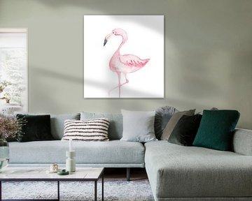 Flamingo van Esther  van den Dool