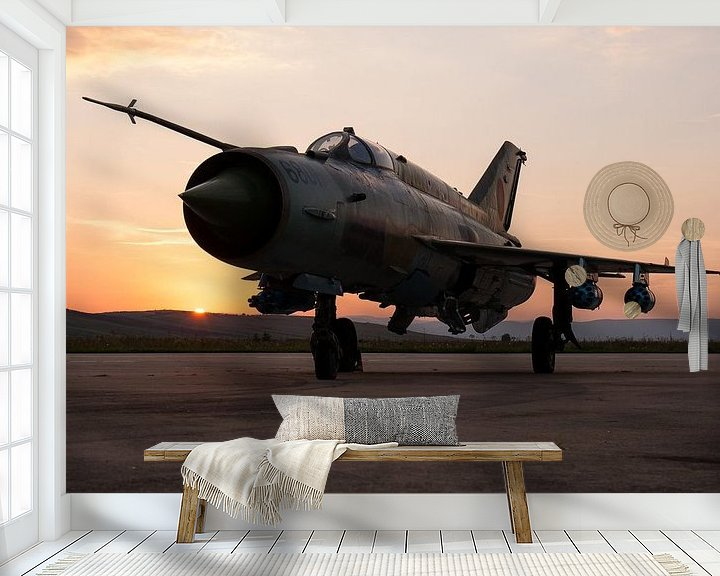 Sfeerimpressie behang: Roemeense Luchtmacht MiG-21 LanceR A van Dirk Jan de Ridder