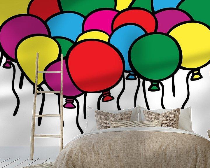 Beispiel fototapete: Luftballons, Party, Farbe. von Mark Rademaker