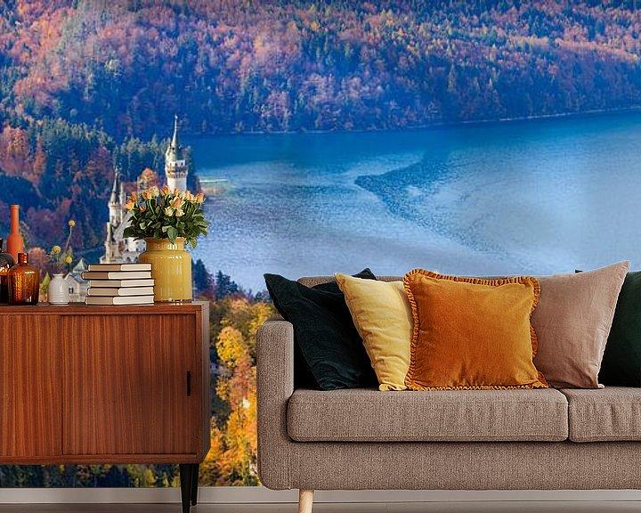 Beispiel fototapete: Herbst auf Schloss Neuschwanstein von Henk Meijer Photography
