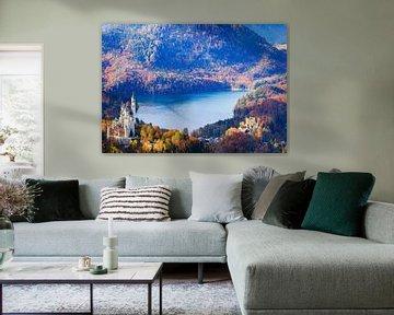 Herfst bij het kasteel Neuschwanstein