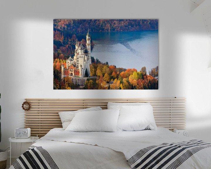 Sfeerimpressie: Herfst bij het kasteel Neuschwanstein van Henk Meijer Photography