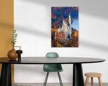Herfst bij kasteel Neuschwanstein