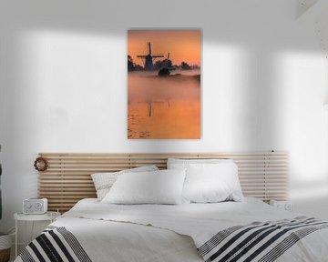 Zonsopkomst, Ten Boer, Groningen, Nederland van Henk Meijer Photography