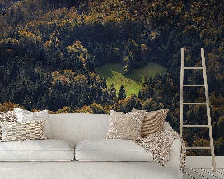 Sfeerimpressie behang: Hart in het bos als teken van liefde voor de natuur van iPics Photography
