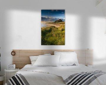 Kasteel Bamburgh, Northumberland, Engeland van Henk Meijer Photography